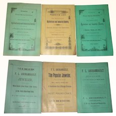 1886 Spring and Fall Moorestown NJ Agricultural and Industrial Society Exhibition Catalogs + Spring 1887 Catalog