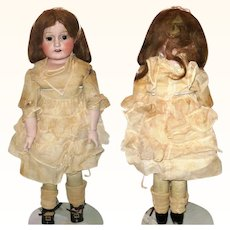 20 Inch WW1 Japanese Bisque SH Doll Disk JNTD Body Original Clothes Wig