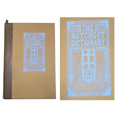 1914 Roycroft Dictionary by Elbert Hubbard in Original Cardboard Case