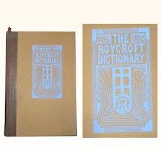 1914 Roycroft Dictionary by Elbert Hubbard in Original Cardboard Case