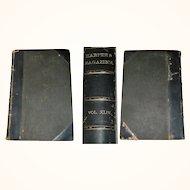 Harper's Magazine Volume XLIV Dec 1871-May 1872 Hard Bound Leather Spine Corners