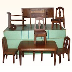 "1930's Boxed Strom Becker Deluxe Dining Room Set 1"" Scale"