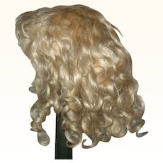 Antique Curly Blond Mohair Wig