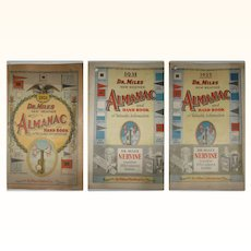 3 Dr. Miles New Weather Almanac and Hand Book of Valuable Information for 1921, 1931 and 1935