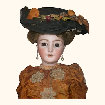 27 Inch S H 1159 Lady Original Edwardian Costume Under Layers Wig Shoes Shipping Box