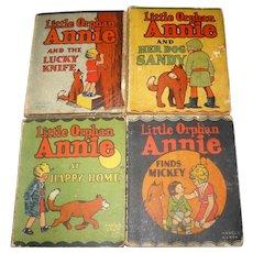 4 Little Orphan Annie  Books Whitman Publishing 1934