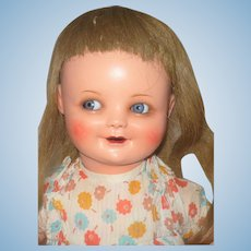 19 Inch All Original Flirty Orsini 1440 Character Toddler Biscaloid Head