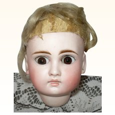 Size 7 Belton 183 Head Brown Glass Paperweight Eyes Frail Original Wig