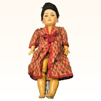 As Found Simon Halbig 1339 Oriental Doll Needs TLC