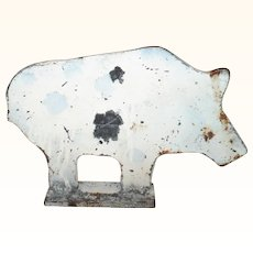 Old Figural  8.25 Inch Long Flat Boar Arcade Shooting Target