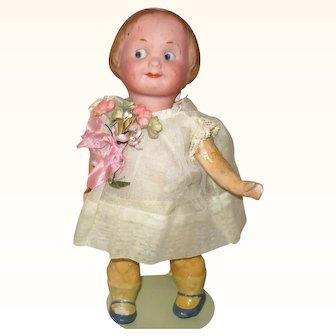 7.5 Inch Recknagle Googly Girl w Pink Hair Band Chunky Body