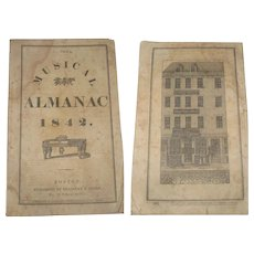 1842 The Musical Almanac Bradbury and Soden Boston