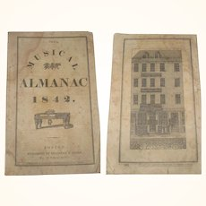 1842 The Musical Almanac Bradbury and Soden Boston