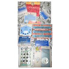 10 Cards of Old Sewing Fasteners