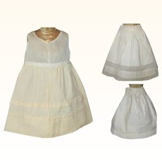 A Wool Flannel Slip and 2 Petticoats