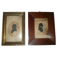 19th Century Frames with Male Silhouettes