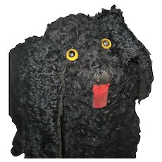 9 Inch Spooky 19th Century Poodle Glass Eyes Wire Frame