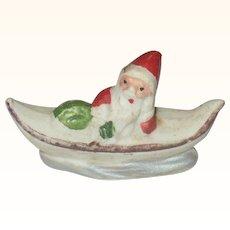 2 Inch Santa in Ocean Boat German Snow Baby