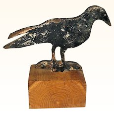 Old 11.5 Inches Long Crow Sheet Iron Carnival Gallery Shooting Target