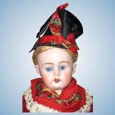 19th Century 13 Inch Bahr and Proschild 320-3dep Beautiful Face Original Regional Costume Wig