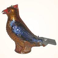 Old  Pewter Jay Bird Whistle Bright Metallic Paint