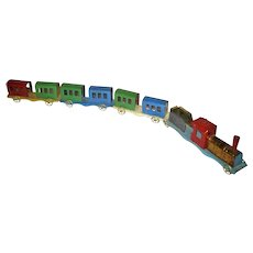 Old Painted Tin Penny Toy Train