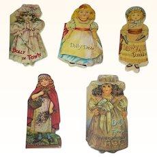 5 Miniature 1982 Reprints of Dolly Shape Books Merrimac Publishing