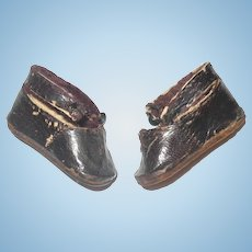 """Size 1 Signed Bru JNE Shoes 1 .75"""" Worn Missing Buckle Ornaments and Loop Fasteners"""