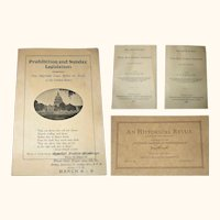 Historical Tracts From Vineland NJ 1888 YMCA+1928 Mother's Garden of Remembrance +1908 Prohibition Sunday Laws