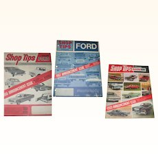 3 Volumes Ford Automobile Shop Tips 1965 1966 and 1968