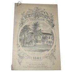 Methodist Year Book 1883 Phillips & Hunt New York