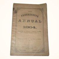 The Progressive Annual 1864 A.J. Davis & CO NY