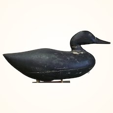 1920's Tom Robinson Seaville NJ Snaky Head 2 Piece Hollow Wood Black Duck