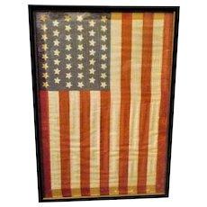 11.5 Inch x 16.5 Inch 1907 Framed 46 Star American Flag
