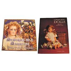 2 Doll Books Memories of a Marriage and Collecting Dolls Reference Price Guide