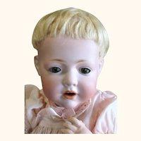 Choice 13 Inch Kestner 245 Hilda Baby with Brown SE 2 Teeth Original Wig Plaster Pate Body Finish