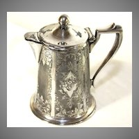 Small Aesthetic Era Silver Plate Covered Pitcher