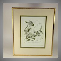 "Pencil signed/numbered D. Eder lithograph, ""Vis a Vis"""