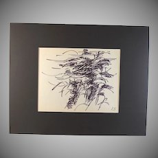 Original Ink on paper drawing by French Listed artist Jacques Germain (1915-2001)
