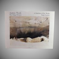 Andrew Wyeth, The Helga Pictures, A Portfolio of Six Works, Nude Studies, 1987