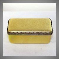 Vintage French gold colored enamel trinket box