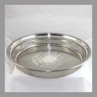 Vintage Towle silver plate reticulated gallery tray, server