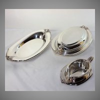 Five pieces Wilcox silver plate, serving pieces, excellent