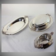Five pieces Wilcox silver plate, serving pieces, excellent