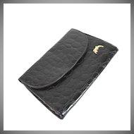 Vintage black Italian alligator evening bag, purse, envelope
