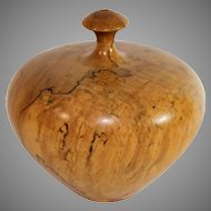 Beautiful hand carved treenware vase, lovely shape
