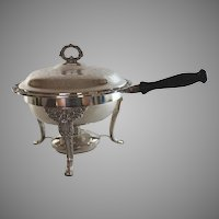 Silverplate Chafing Dish with Cover and burner