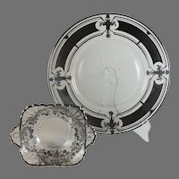 Sterling overlay plate and bowl