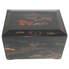 Vintage Japanese Lacquer Tea Caddy with Two inserts