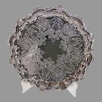Vintage Silverplate Footed Tray Made in England